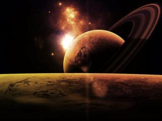 обои Горизонт космоса без конца и начала фото