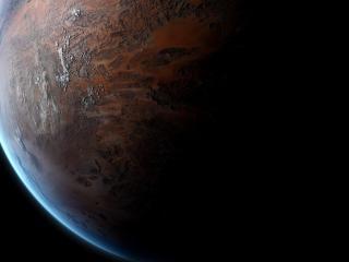 обои Видна планета в темноте фото