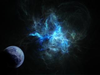 обои У планеты дымящий свет космоса фото