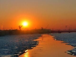обои Жаркое солнце холодной зимы фото