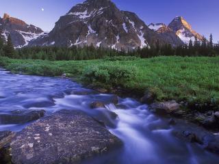 обои Ручей в горах летом фото