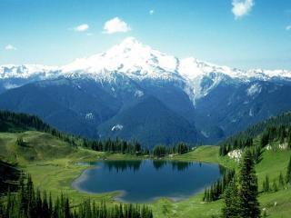 обои Озеро в горах фото