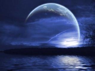 обои Ночная планета фото