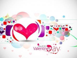 обои для рабочего стола: День Св. Валентина - Абстрактный рисунок