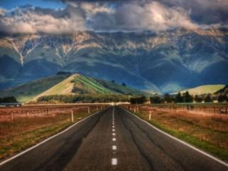 обои Дороги и горы Новой Зеландии фото