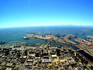 обои Город расположен на полуостровах фото