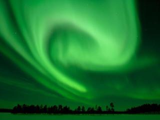 обои Зелень полярного сияния фото