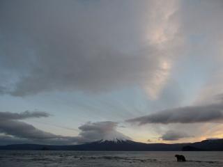 обои Рассвет над Курильским озером фото