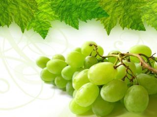 обои Сладкий виноград с зелёными листочками фото