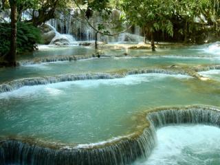 обои Водопад Куанг Си фото