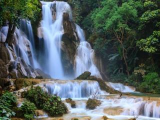 обои Каскад водопада Куанг Си фото
