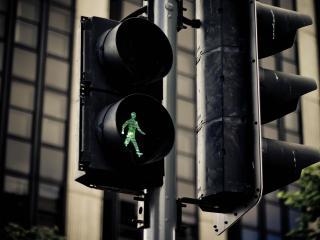обои Пешеходный светофор фото