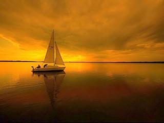 обои Двухпарусная яхта фото
