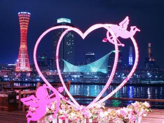 обои Иллюминация города в Японии фото