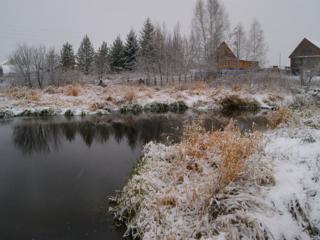 обои Первый деревенский снег фото