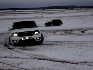 обои Бочком по первому снежку на форике фото