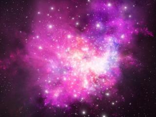 обои Розовый космос фото