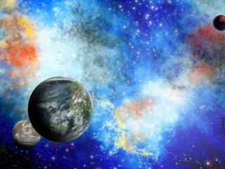 обои Три планеты и космос фото