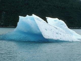 обои Ледник посреди реки фото