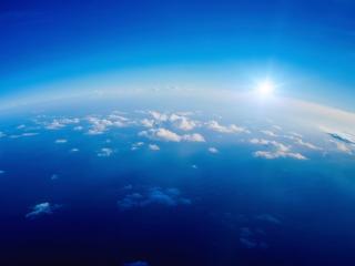 обои Голубое нeбо с облаками фото
