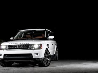 обои Красавец белый Range Rover фото
