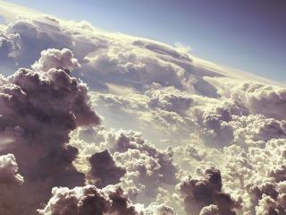 обои Шикарные кучерявые облака фото