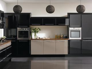 обои Кухня выдержана серо-серных тонах фото