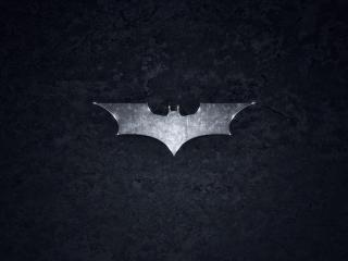 обои Логотип Бэтмана на черном фоне фото