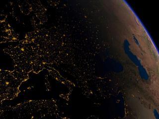 обои Четко видна европа из космоса фото
