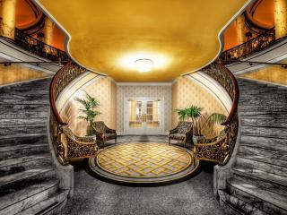 обои Округлой формы  лестницы и холл фото