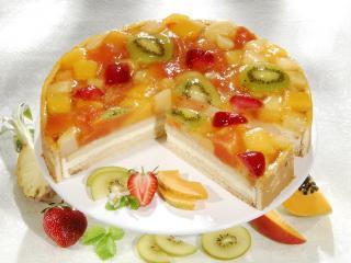обои Торт с фруктовым желе фото