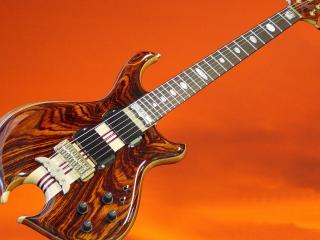 обои Гитара электрическая под дерево внизу с вырезом фото