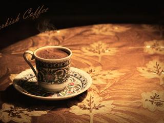 обои Турецкий кофе на столе фото