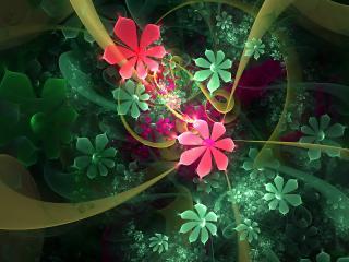 обои Букет цветов с бантиками в абстракции фото