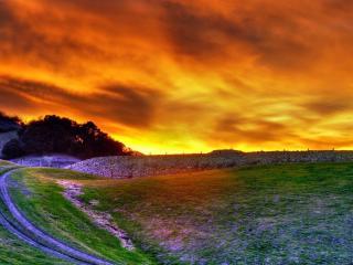 обои Кpacное небо заката фото