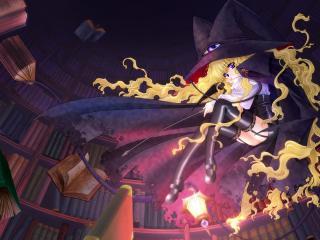 обои Ведьма в библиотеке фото