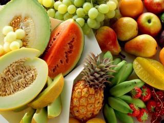 обои Различные виды фруктов фото