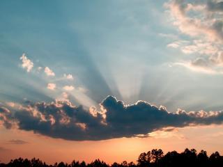 обои Солнце за облaком фото