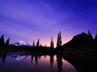 обои Сумерки под звездным небом фото