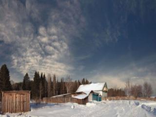 обои Небо над хуторком фото