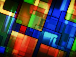 обои Абстрактные квадраты разноцветные диагональю фото