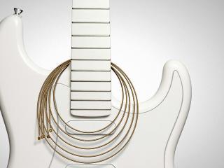 обои Белая дека гитары и струны фото