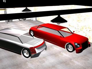обои 2 Автомобиля в гараже фото
