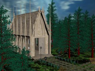 обои Готический собор фото