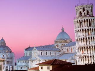 обои Пизанская башня и вид собора фото