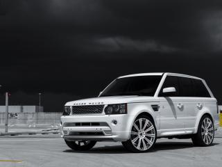 обои Белый внедорожник Land Rover фото