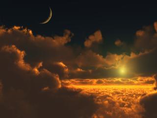 обои Бесподобный вид облаков на закате фото