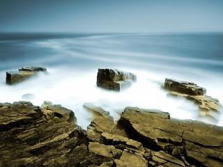 обои Камни в тумане фото