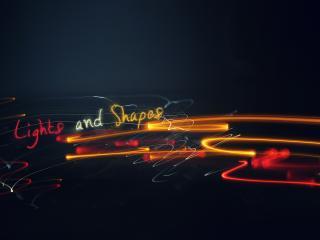 обои Надпись в абстрактных линиях фото