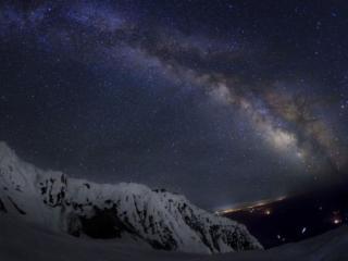 обои Млечный путь в ясную ночь фото
